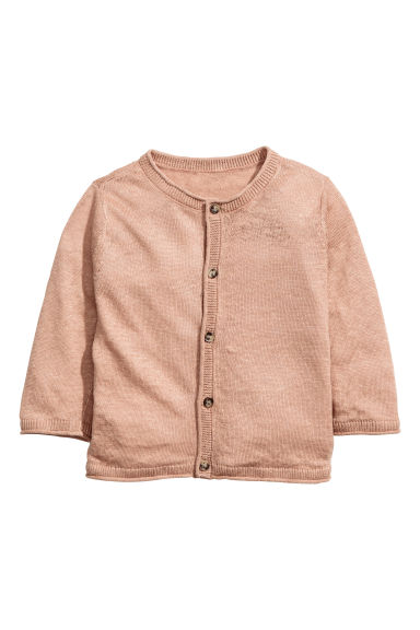 Cardigan in lino - Beige - BAMBINO | H&M IT 1