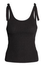 Top a coste - Nero -  | H&M IT 2