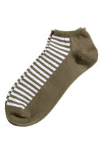 Trainer socks - Khaki green/Striped - Men | H&M 1
