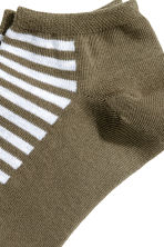 Trainer socks - Khaki green/Striped - Men | H&M 2