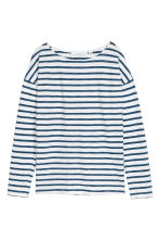 Long-sleeved top - Dark blue/Striped - Ladies | H&M CN 2