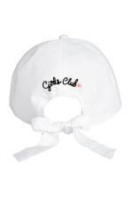 Tie-back cap - White - Ladies | H&M 2