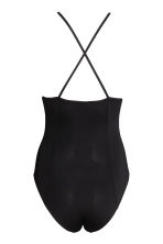 V-neck jersey body - Black -  | H&M 3