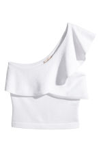 One-Shoulder-Shirt - Weiss - DAMEN | H&M CH 2