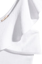 One-Shoulder-Shirt - Weiss - DAMEN | H&M CH 3