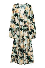Satin wrap dress - Mint green/Floral - Ladies | H&M GB 2