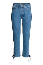 Straight Lace-up Ankle Jeans - Denim blue - Ladies | H&M CN 2
