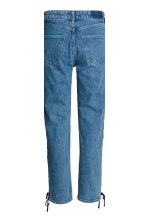 Straight Lace-up Ankle Jeans - Denim blue - Ladies | H&M CN 4