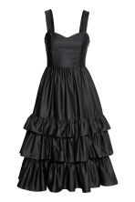 Cotton poplin dress - Black - Ladies | H&M 2