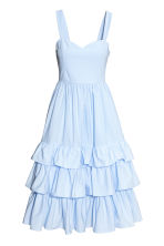 Cotton poplin dress - Light blue - Ladies | H&M CN 2