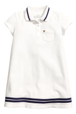 Short-sleeved piqué dress - White - Kids | H&M 2