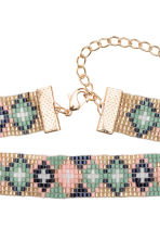 Glass bead choker - Green/Gold - Ladies | H&M 2