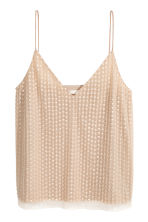 Mesh top - Light beige - Ladies | H&M CN 2