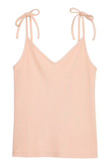 Ribbed strappy top