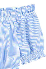 Off-the-shoulder blouse - Blue/White/Striped - Ladies | H&M 3
