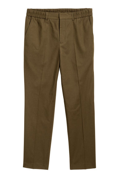 Wool-blend trousers - Khaki brown - Men | H&M GB