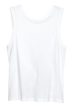 Knot-detail vest top - White - Ladies | H&M 2