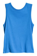 Knot-detail vest top - Blue - Ladies | H&M 2
