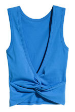 Knot-detail vest top - Blue - Ladies | H&M 3
