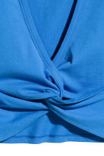 Knot-detail vest top - Blue - Ladies | H&M 4