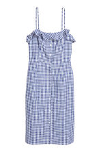 Sleeveless dress - Blue/White/Checked - Ladies | H&M CN 2