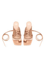 Sandals with lacing - Powder beige - Ladies | H&M CA 2