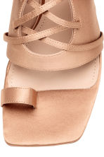 Sandals with lacing - Powder beige - Ladies | H&M CA 3