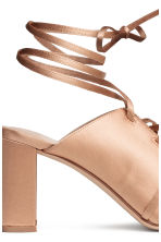 Sandals with lacing - Powder beige - Ladies | H&M CA 4