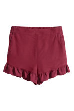 Frill-trimmed shorts - Burgundy - Ladies | H&M CN 2