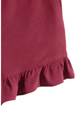 Frill-trimmed shorts - Burgundy - Ladies | H&M CN 3