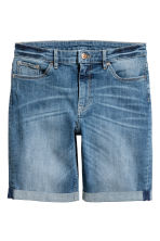 Denim shorts - Denim blue - Ladies | H&M CA 2