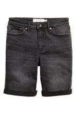 Denim shorts - Black denim - Ladies | H&M 3