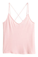 Strappy jersey top - Light pink - Ladies | H&M 2
