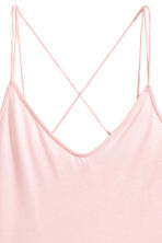 Strappy jersey top - Light pink - Ladies | H&M 3