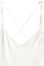 Strappy jersey top - White - Ladies | H&M 3