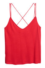 Strappy jersey top - Red - Ladies | H&M CN 2