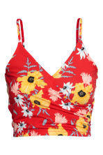 Short strappy wrap top - Red/Floral - Ladies | H&M 2