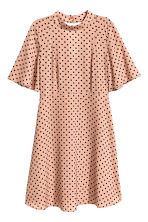 Patterned dress - Powder beige/Spotted - Ladies | H&M CN 1