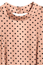Patterned dress - Powder beige/Spotted - Ladies | H&M CN 2