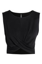 Draped jersey top - Black - Ladies | H&M 2