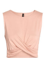 Draped jersey top - Powder - Ladies | H&M 2