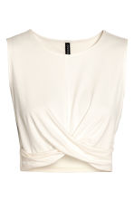 Draped jersey top - White - Ladies | H&M 2