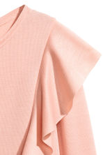 Jersey top with ruffles - Powder pink -  | H&M CA 2