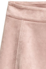 Imitation suede skirt - Light pink - Ladies | H&M 3