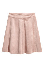 Imitation suede skirt - Light pink - Ladies | H&M 2