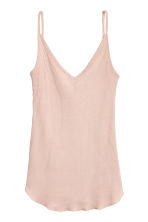 Ribbed strappy top - Powder pink - Ladies | H&M 2
