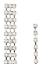 Sparkly earrings - Silver - Ladies | H&M CN 2