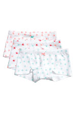 3-pack boxer briefs - White/Starfish - Kids | H&M 1