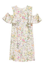 Cold shoulder dress - Natural white/Floral - Ladies | H&M CN 2