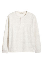 Henley shirt - Light grey marl - Men | H&M 2